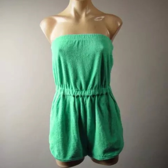 71daaa7ff89b Urban Outfitters terry cloth cover up romper med